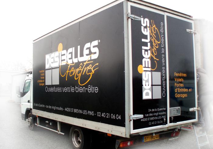 Relooking camion grand format - Adhésifs St Brévin