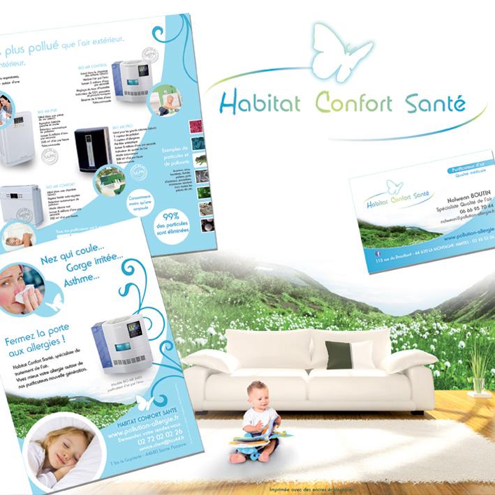 Création plaquette Nantes 44 - cartes de visite et flyer