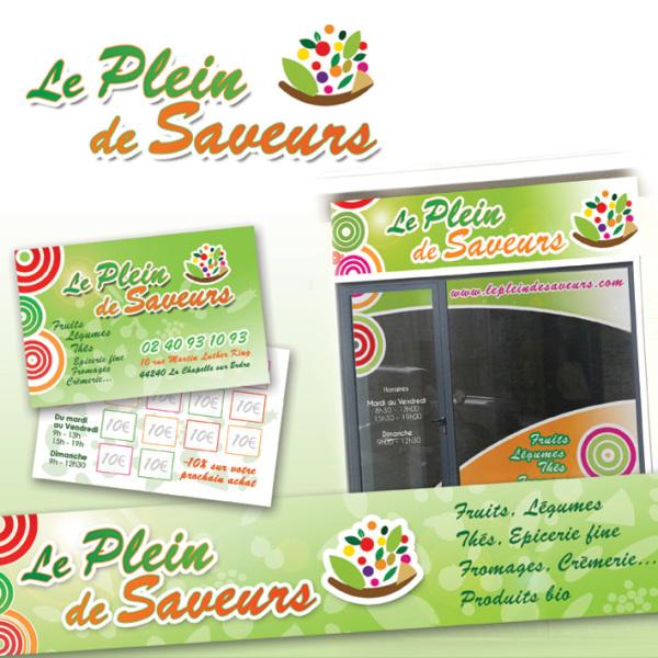 Vitrine de magasin 44 Pornic Nantes : commerçants et artisans : Magenta Communication