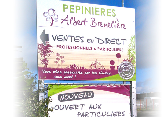 Panneau d'information Nantes Pornic – Panneau de signalétique par Magenta Communication Nantes et Pays de Retz