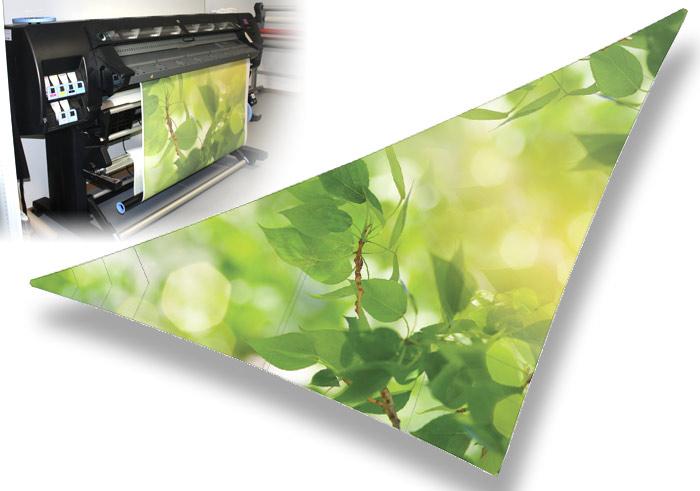 Voile d'ombrage imprimée personnalisée 44 Nantes : imprimante grand format encre écologique Nantes